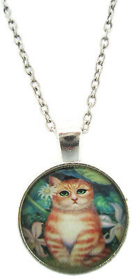 Cat Necklace Feline Jewelry Girls Pendant Xmas Gift for Holiday Unusual Unique