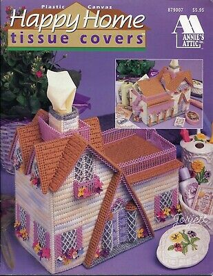 Happy Home Tissue Covers, Annie's plastic canvas patterns RARE new
