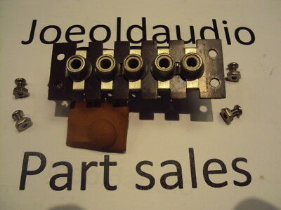 Dynaco PAT 4 PreAmp RCA Input Jack w/Mounting Hardware. 5 Gang Parting Out PAT 4