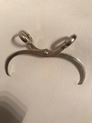 Antique Sterling Silver Rlb Robert Lunt Bowlen Sugar Cube Tongs