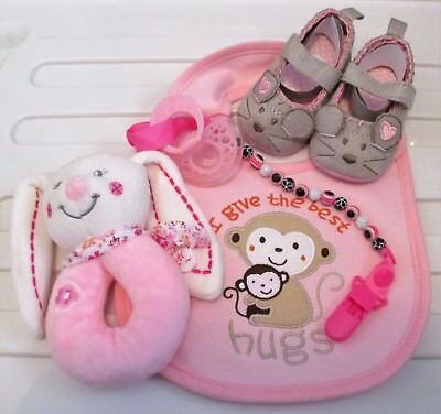 Baby Gift Set - Baby Shower for Baby Girl x 5 Items