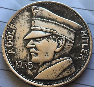 1 x Silver Plated Coin Germany Hitler Collectable Medallion War Army German