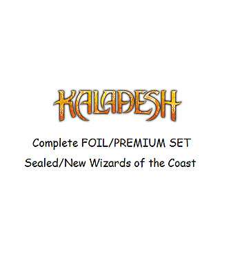 Kaladesh Complete FOIL Set  Magic the Gathering Sealed Complete Set Wizards