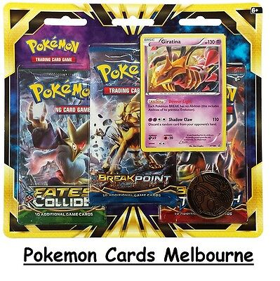 Pokemon Cards TCG Giratina 3 Pack Blister Card & Coin Packs Combo New/Sealed Aus