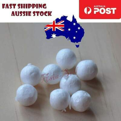100 x Foam Balls Bean Bag Styrofoam Balls 10mm Toy Electrostatic Levitation