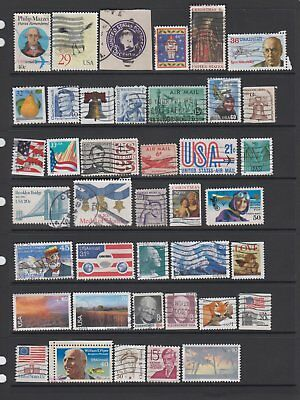 USA - 40 used stamps  ( Lot 89 )