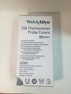 1 Carton of 250 WA Thermometer Probe Covers, each box of 25 is sealed. #05031