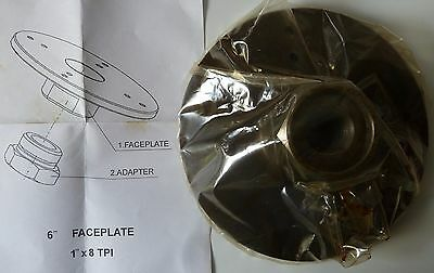 """Torquata Faceplate 150mm FP-150 for Wood Turning Lathe with 1"""" x 8 TPI Thread"""
