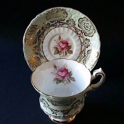 Beautiful Paragon Cup and Saucer - Light Mint Color