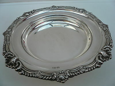 Silver Warming Plate, Hot Plate, Sterling, English, Vintage, Hallmarked 1916.