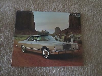 1977 FORD LTD Original Color Showroom Car Sales Brochure. Auto; 8 PAGES