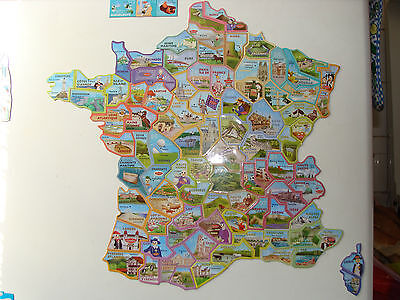 lot de 4 magnets au choix  le gaulois départements carte de france depart'aimant