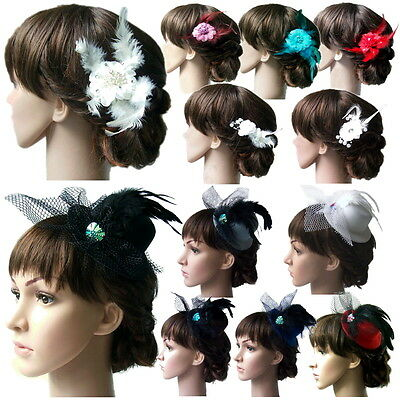 Fascinator Flower Hair Mini Hat Headdress Wedding Accessory Party VH10#