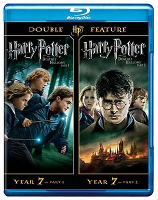 #5 HARRY POTTER DEATHLY HALLOWS Parts I & II New Blu-Ray Set FREE SHIPPING