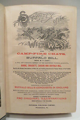Story of the Wild West and Camp Fire Chats 1888 Buffalo Bill Cody Boone Crockett