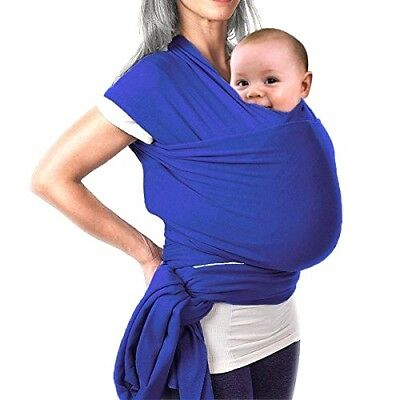 Baby Sling Wrap Stretchy cotton Pouch Newborn Birth toddler blue 70% OFF SALE!!!