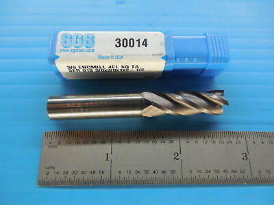 AlTiN Coated SGS36537 3//4 Square-End Carbide End Mill PART NO Series Z1 4-Flute