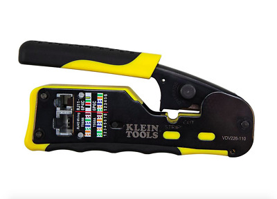 Klein Tools Pass Through Connector Crimper Crimping Tool Terminal Wire Pliers