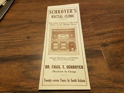 1920's Dr Chas.T. Schroyers Rectal Clinic Sioux Falls South Dakota