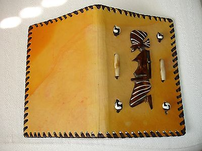 Unique Hand Made Leather Decorated Re-fillable Notebook from Kenya