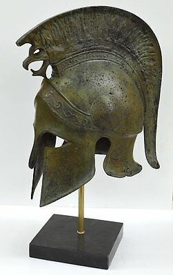 Corinthian Solid Bronze helmet with Griffin - Ancient Athenian Spartan armor