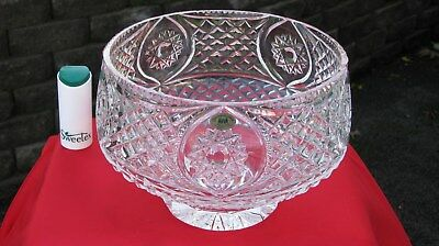 Rare vintage Irish (Tyrone Crystal large bowl centre piece) Look waterford