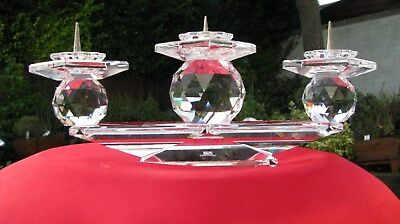 vintage (swarovski crystal 3 candle holder/ candelabra) waterford Tyrone storm