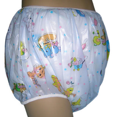 Incontinent, Autistic Plastic Pants in Adult Sizes, BLUE CAROUSEL