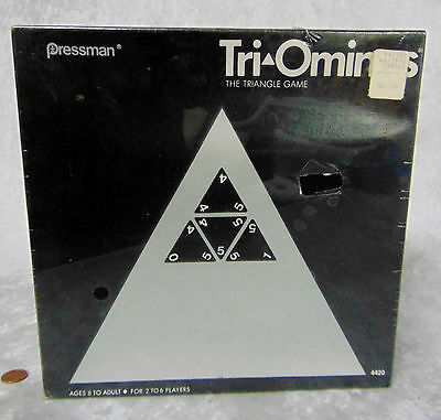 NEW Sealed TRI-OMINOS Triangle Domino TILE BOARD GAME Pressman 1968 Triominoes