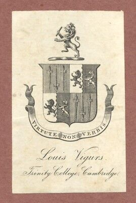 Louis Vigurs, Trinity College  Cambridge, 1830s,  Lion Rampant,  Swords    RK949