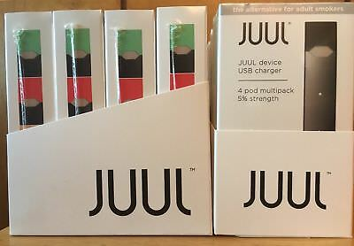 JUUL.STARTER KIT.. DEVICE and CHARGER with 4 PODS ..SAME DAY FREE SHIPPING