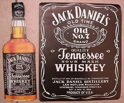 2 petites AFFICHETTES   WHISKY  JACK DANIEL'S  Tennessee whiskey