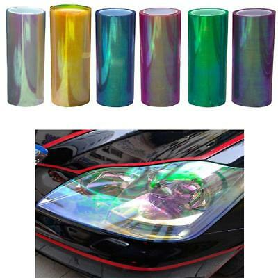 Chameleon Color Changing Tint Vinyl Wrap Sticker Headlight Film Car Lamp KZ 29