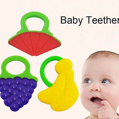 Toddler Baby Teether Training Chewable Silicon Toddler Toy Bendable Yummy AU