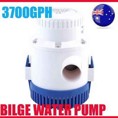 12V 3700GPH Non-Automatic Bilge Water Pump Submersible for Fishing Boating Car B