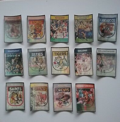 1992 VFL Colourgram Foootball Cards 14 cards