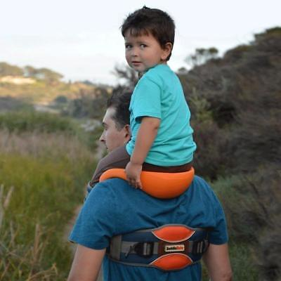 Saddle Baby Hands Free Shoulder Carrier with Ankle Straps and Cushioned Hip