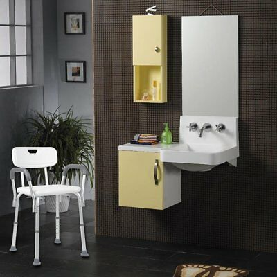 NEW Equipmed Shower Chair Stool Adjustable Seat Bath Aid with Shower Holder AUS