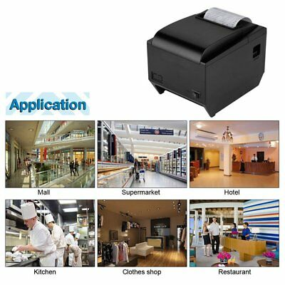 80mm ESC POS Thermal Receipt Printer Auto Cutter USB Network Ethernet High YH