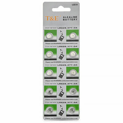New 10x AG4 177 377 377A GP377 L626 Alkaline Button Cell Battery Watch Batteries