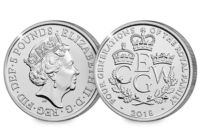 2018 4 Generations of Royalty CERTIFIED BU £5 [Ref H5BUC027]