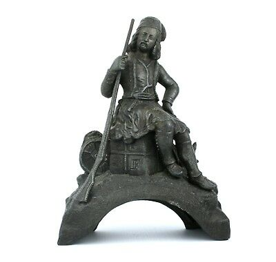 Early 20th C. Spelter ? Figurine 16th 17th Century Musketeer Figurine New World