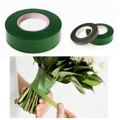 GREEN COFFEE Parafilm Wedding Craft Florist Stem Wrap Floral Tape Waterproof 27m
