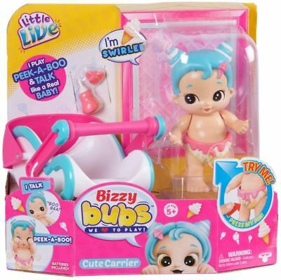 Little Live Bizzy Bubs Cute Carrier & Swirlee Baby Doll With Action & Sound