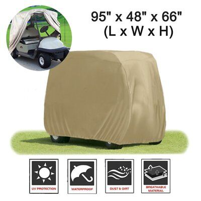 2 Seater Waterproof Golf Cart Buggy Golfcar Storage Cover Yamaha EZ Go Club Car