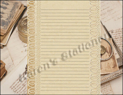art deco design lined stationery writing paper set 25 sheets 10