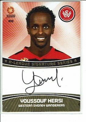 2013-14 A League Soccer Card Signature Card A10 Youssouf Hersi (Wanderers)