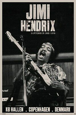 Jimi Hendrix : En direct de Copenhague Poster grand format 61 x 91.5 cm