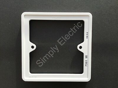 1 Gang 7 Mm Deep Socket Switch Back Box Frame Spacer White Square Reduced Price