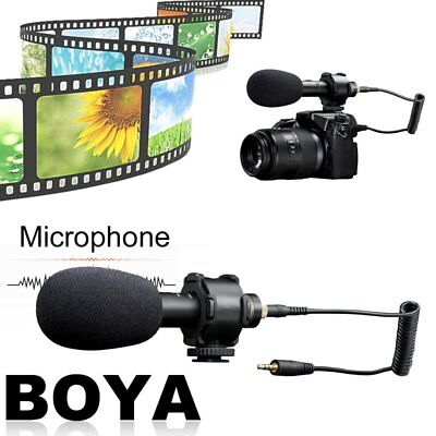 BOYA BY-PVM50 Capacitive Stereo Microphone Condenser Video Mic with Windshield G